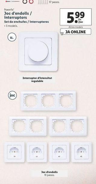 Oferta de Set de enchufes / interruptores Powerfix por 5,99€