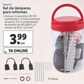Oferta de Set de lámparas para reformas Powerfix por 3,99€
