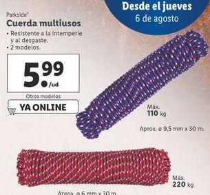 Oferta de Cuerda multiusos Parkside por 5,99€