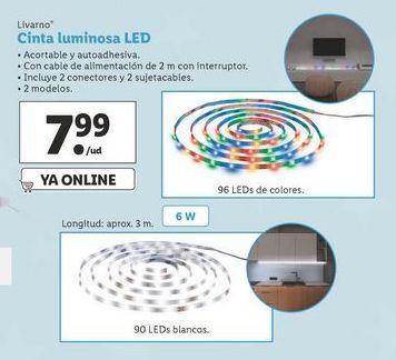 Oferta de Cinta luminosa LED Livarno por 7,99€