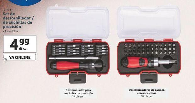 Oferta de Set de destornillador / de cuchillas de precisión Parkside por 4,99€
