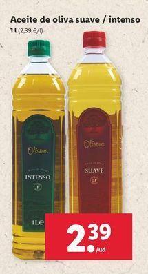 Oferta de Aceite de oliva suave / intenso Olisone por 2,39€