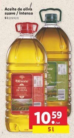 Oferta de Aceite de oliva suave / intenso Olisone por 10,59€
