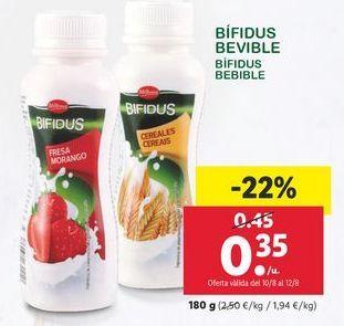Oferta de Bífidus Bebible Milbona por 0,35€