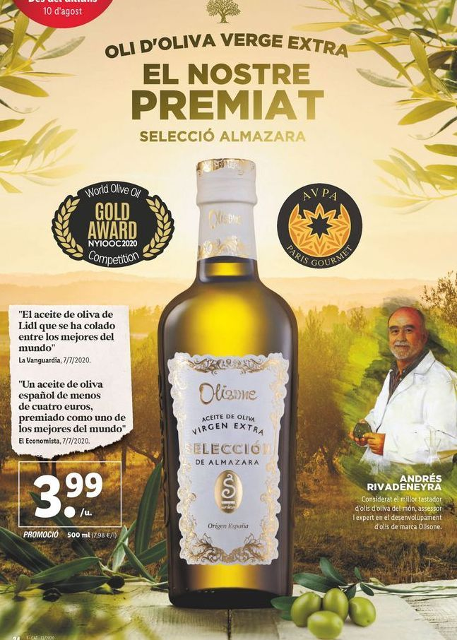 Oferta de Aceite de oliva virgen extra Olisone por 3,99€