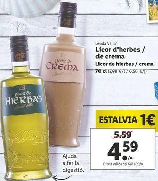 Oferta de Licor de hierbas / crema Lenda Vella por 4,59€