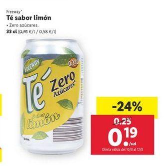 Oferta de Té sabor limón Freeway por 0,19€
