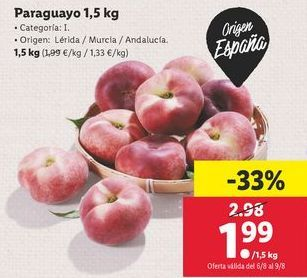 Oferta de Paraguayo 1,5 kg por 1,99€