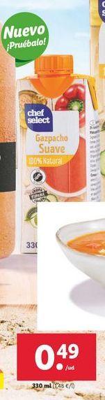 Oferta de Gazpacho Suave chef select por 0,49€