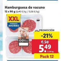 Oferta de Hamburguesa de vacuno por 5,49€