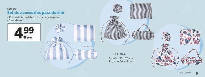Oferta de Set de accesorios para dormir Esmara por 4,99€