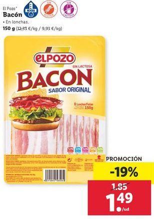 Oferta de Bacón El Pozo por 1,49€