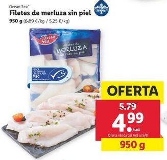 Oferta de Filetes de merluza sin piel Ocean Sea por 4,99€