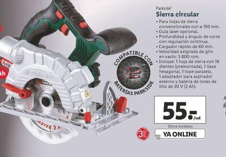 Oferta de Sierra circular Parkside por 55€