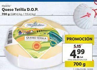 Oferta de Queso tetilla D.O.P. Hipolito por 4,99鈧�
