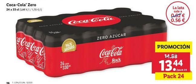 Oferta de Coca-Cola Zero por 13,44€