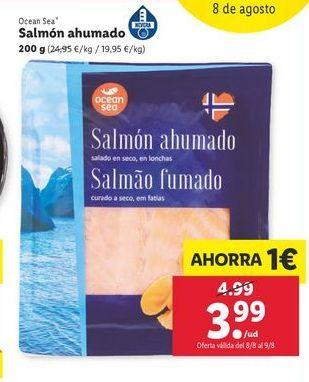 Oferta de Salmón ahumado Ocean sea por 3,99€