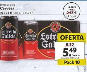 Oferta de Cerveza Estrella Galicia por 5,49€