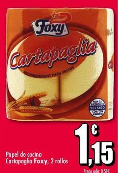 Oferta de Papel de cocina Foxy por 1,15€