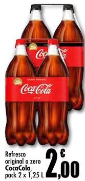 Oferta de Coca-Cola por 2€