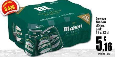 Oferta de Cerveza Mahou por 5,16€