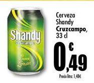 Oferta de Cerveza con limón Cruzcampo por 0,49€