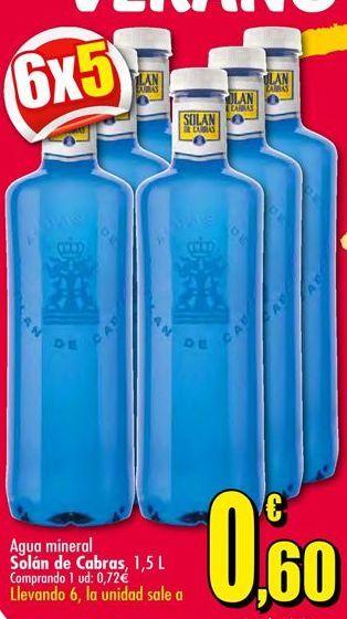Oferta de Agua Solán de Cabras por 0,72€