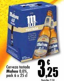 Oferta de Cerveza sin alcohol Mahou por 3,25€