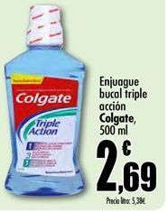 Oferta de Enjuague bucal Colgate por 2,69€