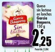 Oferta de Queso en lonchas García Baquero por 2,25€