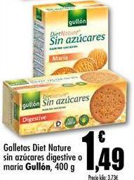 Oferta de Galletas diet sin azucar Gullón por 1,49€