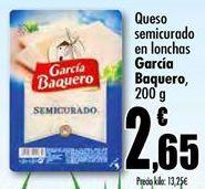 Oferta de Queso en lonchas García Baquero por 2,65€