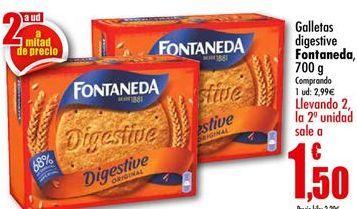 Oferta de Galletas Digestive Fontaneda por 2,99€
