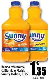 Oferta de Refresco de naranja Sunny Delight por 1,35€