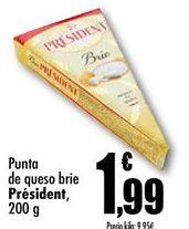 Oferta de Queso brie Président por 1,99€