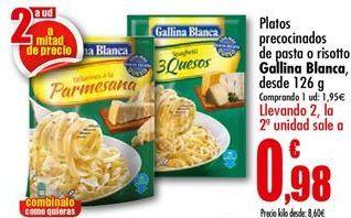 Oferta de Platos precocinados Gallina Blanca por 1,95€