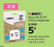 Oferta de Micro SC ELITE GOLD + adaptador  por 5€