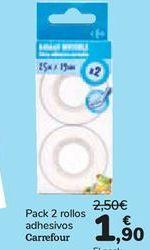 Oferta de Pack 2 rollos adhesivos Carrefour  por 1,9€