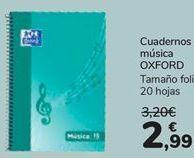 Oferta de Cuaderno música Oxford por 2,99€