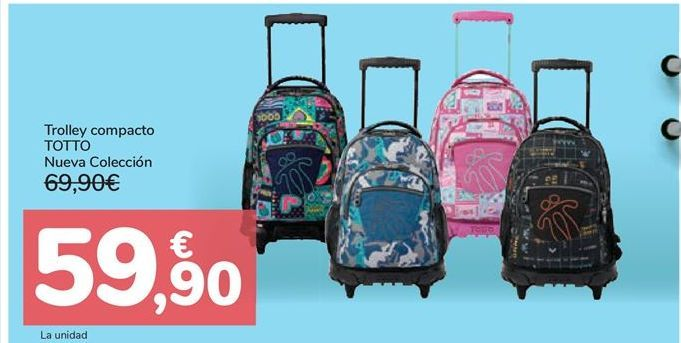 Oferta de Trolley compacto Totto Nueva Colección por 59,9€