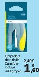 Oferta de Grapadora de bolsillo Carrefour  por 1,6€