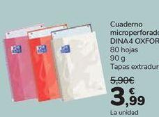 Oferta de Cuaderno microperforado DINA4 Oxford por 3,99€