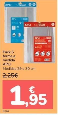 Oferta de Pack 5 forros a medida APLI  por 1,95€