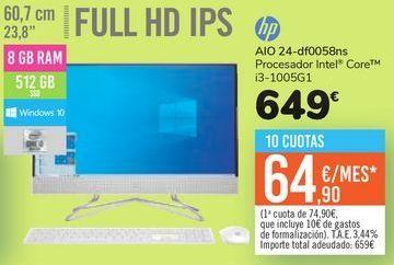 Oferta de AIO 24-df0058bns Hp por 649€
