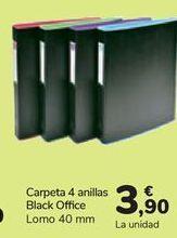 Oferta de Carpeta 4 anillas Black Office  por 3,9€
