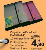 Oferta de Carpeta clasificadora DATABANK por 4,9€