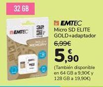 Oferta de Micro SC ELITE GOLD + adaptador  por 5,9€