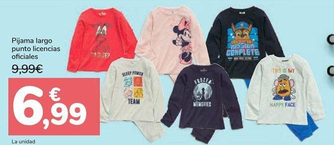 Oferta de Pijama largo punto licencias oficiales por 6,99€