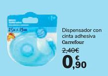 Oferta de Dispensador de cinta adhesiva Carrefour  por 0,9€