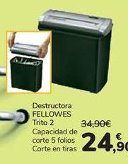 Oferta de Destructora FELLOWES Trito 2  por 24,9€